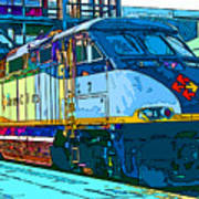 Amtrak Locomotive Study 2 Art Print by Samuel Sheats