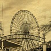 Amusement Park Vintage Art Print