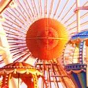 Amusement Rides Art Print