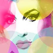 Amy Portrait Pink Yellow  Art Print