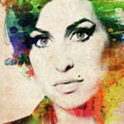 Amy Winehouse Colorful Portrait Art Print