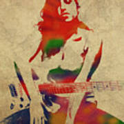 Amy Winehouse Watercolor Portrait Art Print