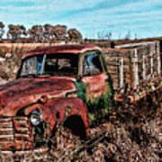 An Abandoned Truck Art Print