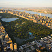 An Aerial View Of Central Park Art Print by Michael S. Yamashita