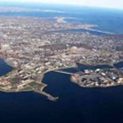 An Aerial View Of Naval Station Newport Art Print