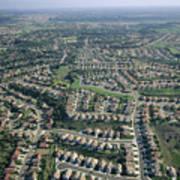 An Aerial View Of Urban Sprawl Art Print