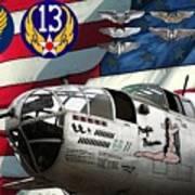 An American B-25c Pof Art Print