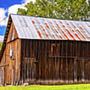 An American Barn 2 Painted Art Print