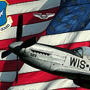 An American F-51 Ang Art Print