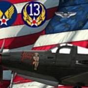 An American P-63 Pof Art Print