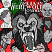 An American Werewolf In London Art Print