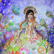 An Angel For All Of The Chakras And Her Name Is Simplicity Art Print