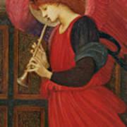 An Angel Playing A Flageolet Art Print