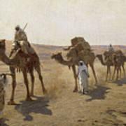 An Arab Caravan Art Print