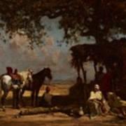 An Arab Encampment Art Print by Gustave Guillaumet