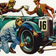 An Aston Martin Racing Car, Vintage 1932 Art Print