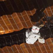 An Astronaut Anchored To A Foot Art Print
