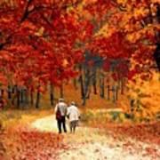 An Autumn Walk Art Print