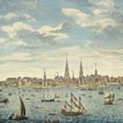 An East Prospective View Of The City Of Philadelphia Art Print