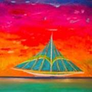 An Emerald Sail Art Print