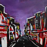 An Empty Street At 3 A.m. Art Print
