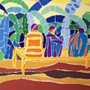 An Evening Near The Banana Plantation Art Print