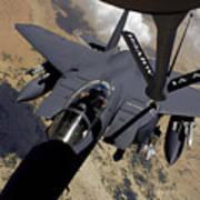 An F-15 Strike Eagle Prepares Art Print
