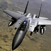An F-15e Strike Eagle Aircraft Art Print