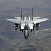 An F-15e Strike Eagle Flies Watch Art Print