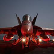 An Fa-18f Super Hornet Parked Art Print