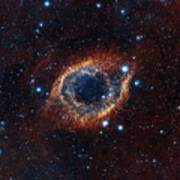 A Look In Infrared At The Helix Nebula Art Print