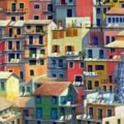 An Italian Village Art Print