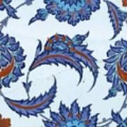 An Iznik Polychrome Pottery Tile, Turkey, Circa 1570-85, By Adam Asar, No 18 Art Print