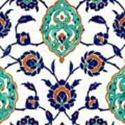 An Iznik Polychrome Tile, Turkey, Circa 1575, By Adam Asar, No 23h Art Print