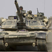 An M1a1 Abrams Tank Heading Art Print