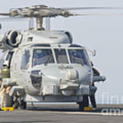 An Mh-60r Seahawk Embarked Aboard Uss Art Print