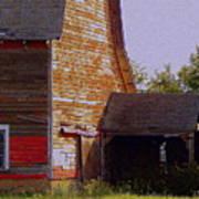 An Old Barn And Silo Art Print