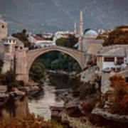 An Old Bridge In Mostar Art Print