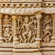 An Old Carving Of Shiva At Abhaneri Art Print