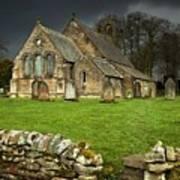 An Old Church Under A Dark Sky Art Print