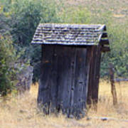 An Old Outhouse  Art Print