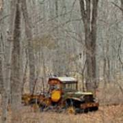 An Old Truck In The Woods. Art Print