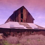 An Old Weathered Barn  Art Print