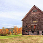 An Old Wooden Barn In Vermont. Art Print