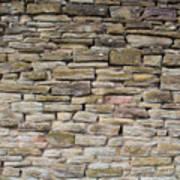 An Uneven Rock/stone/brick Wall Art Print