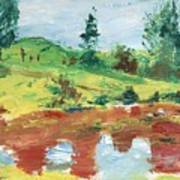An Upland Meadow Art Print