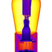 An X-ray Of Historic Audion Vacuum Tube Art Print