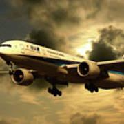 Ana Boeing 773 Ja784a Art Print