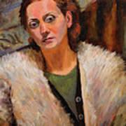 Ana In A Fur Coat Art Print
