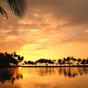 Anaehoomalu Bay Sunset Art Print